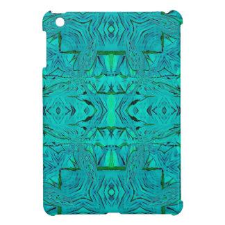 Étui iPad Mini Joli motif tribal bleu vert au néon