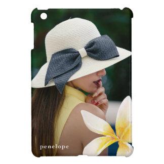 Étui iPad Mini Jolie fleur avec la photo et le cas de nom