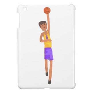 Étui iPad Mini Joueur de basket avec l'autocollant d'action de