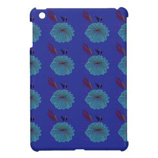 Étui iPad Mini La conception fleurit le bleu