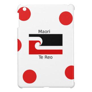 Étui iPad Mini Langue de Te Reo et conception maorie de drapeau