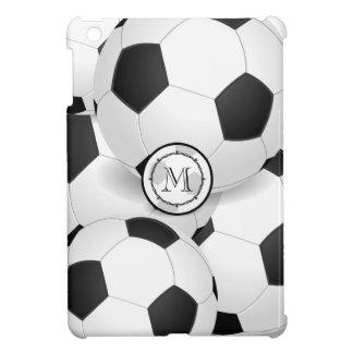 Étui iPad Mini Le football de monogramme folâtre le mini cas