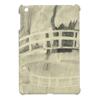 Étui iPad Mini Le pont japonais de Monet noir et blanc