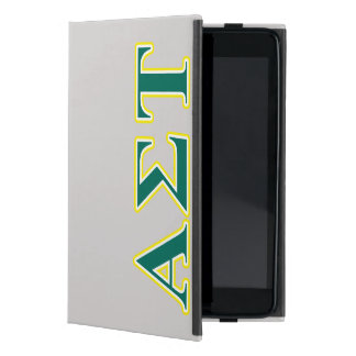 Étui iPad Mini Lettres jaunes et vertes d'alpha Tau de sigma