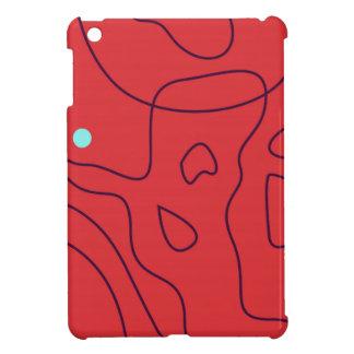 Étui iPad Mini Lignes rouges exotiques de conception