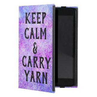 Étui iPad Mini Maintenez calme et portez le pourpre de fil
