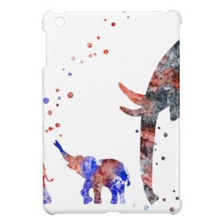 Étui iPad Mini Maman et bébés éléphant, famille d'éléphant