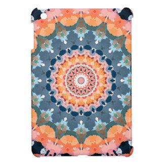 Étui iPad Mini Mandala orange abstrait
