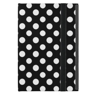 Étui iPad Mini Mini cas de polka de point d'iPad noir et blanc de