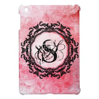 Étui iPad Mini Motif chic de vieux rose rose romantique