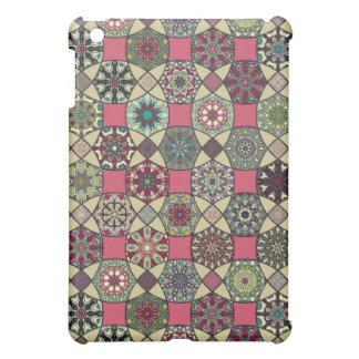 Étui iPad Mini Motif coloré vintage décoratif avec le patchwork