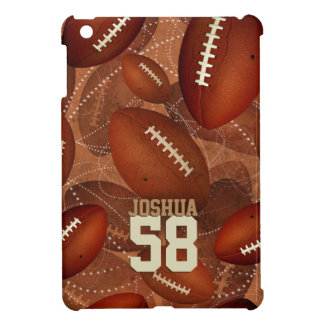 Étui iPad Mini Motif du football de sports son nombre nommé de