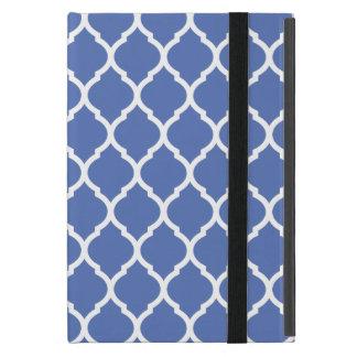 Étui iPad Mini Motif marocain chic bleu de trellis