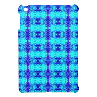 Étui iPad Mini Motif tribal bleu au néon coloré de bleu royal