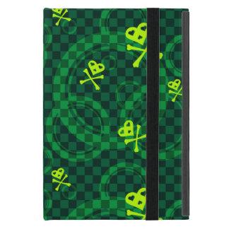 Étui iPad Mini Motif vert d'Emo avec des cercles