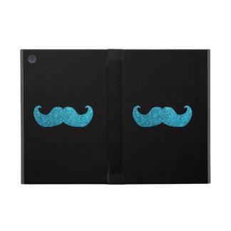 Étui iPad Mini Moustache bleue de Bling (graphique de parties