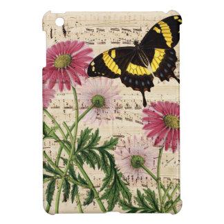 Étui iPad Mini musique de papillon de marguerite
