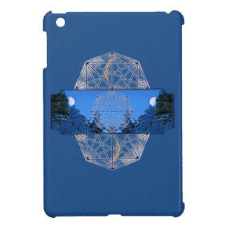 Étui iPad Mini Nature sacrée de lune de la géométrie