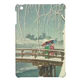 Étui iPad Mini Neige au paysage d'art d'hiver de Hasui Kawase de