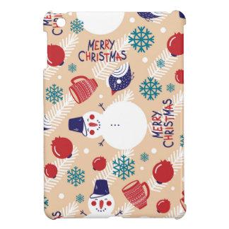 Étui iPad Mini Noël, vacances, décorations d'arbre, motif