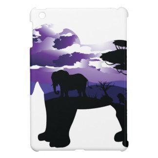 Étui iPad Mini Nuit africaine avec l'éléphant