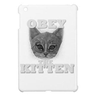 Étui iPad Mini Obéissez le chaton