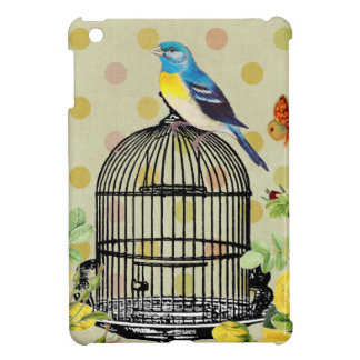 Étui iPad Mini oiseau floral, art, conception, beau, nouvelle,
