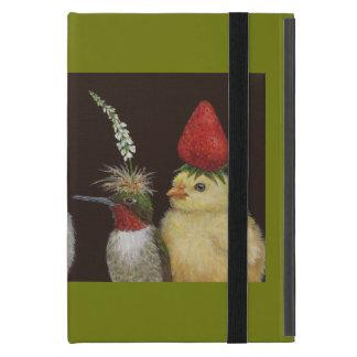 Étui iPad Mini oiseaux dans cas d'iPad de casquettes de partie le
