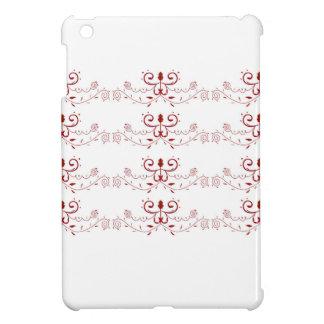 Étui iPad Mini Ornemente les gens rouges blancs