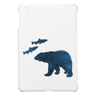 Étui iPad Mini ours et saumon