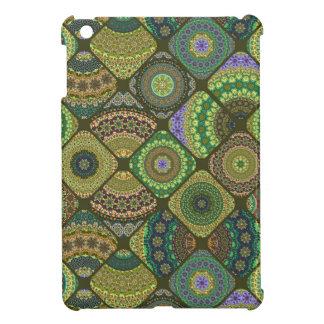 Étui iPad Mini Patchwork vintage avec les éléments floraux de