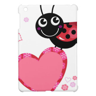 Étui iPad Mini Petite abeille mignonne rouge avec des points