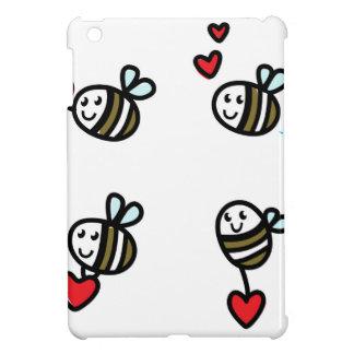 Étui iPad Mini Peu d'abeilles de vol sur le blanc
