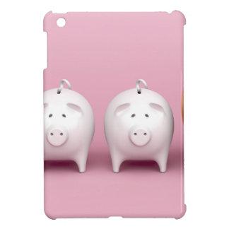 Étui iPad Mini Rangée avec les tirelires sur l'arrière - plan