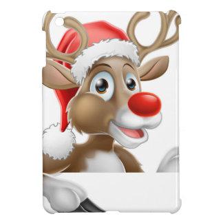 Étui iPad Mini Renne de casquette de Père Noël se dirigeant vers