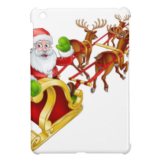 Étui iPad Mini Renne et traîneau Sleigh de Noël du père noël