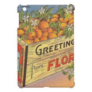 Étui iPad Mini Rétros oranges vintages de la Floride
