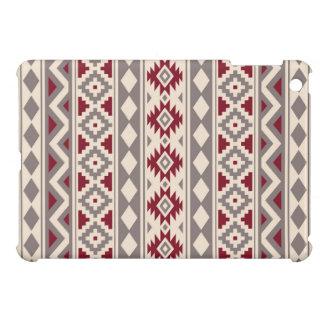 Étui iPad Mini Rouge crème aztèque de Taupe de Ptn IIIb d'essence