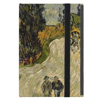 Étui iPad Mini Route de Vincent van Gogh | avec des cyprès, 1890