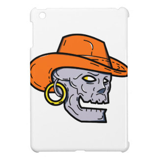 Étui iPad Mini Schéma mono crâne de pirate de cowboy