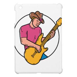 Étui iPad Mini Schéma mono guitariste de balancier de cowboy