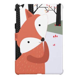 Étui iPad Mini Sourire mignon vintage de loup de renard de bébé