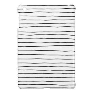 Étui iPad Mini Stri noir et blanc ondulé moderne mince de pinceau