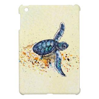 Étui iPad Mini Tortue de mer de bébé émergeant du sable