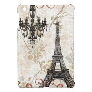 Étui iPad Mini Tour Eiffel romantique de Paris de feuille