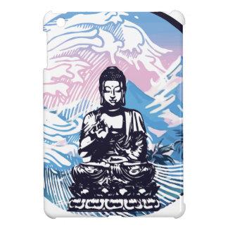 Étui iPad Mini Vague de montagne tropicale de Bouddha