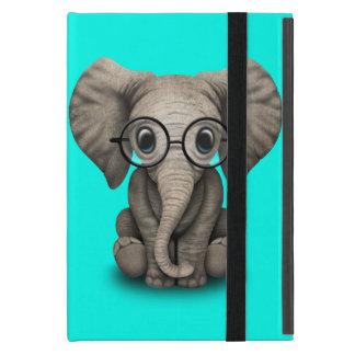 Étui iPad Mini Verres de port d'éléphant ringard de bébé
