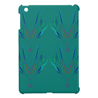Étui iPad Mini Vert de nordic d'éléments de conception
