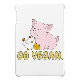Étui iPad Mini Vont le végétalien - porc et poulet mignons