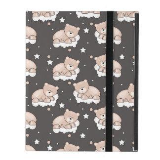Étui iPad motif avec le petit sommeil d'ours